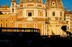"Piazza Venezia ""Pop"", Rome (Claudio_R_1973) Tags: dome church piazzavenezia roma italy capitale capital centralitaly trafficjam silhouette street square piazza pop vivid popcolor nikond5600 outdoor goldenhour sunset city cityscape urban italian"