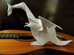 Dragon (Matthew J. Dunstan) Tags: origami origamiforum dragon paperfolding design birdbase fantasy