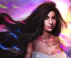 Queenz Noble (A. Doutzen) Tags: photoshop photograpy pocahontas love disney hair second life secondlife avatar virtual