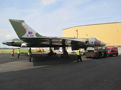 Volunteers at VRT HQ, Southend Airport setting up the vehicles for static display on 15.06.18 (Trevor Bruford) Tags: vrt vulcan restoration trust xl426 southend airport avro nuclear bomber cold war plane jet aircraft airplane aviation raf tin triangle delta lady royal air force volunteers