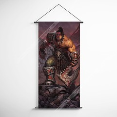 WOW - World of Warcraft 03 Garrosh Hellscream Decorative Banner Flag for Gamers (gamewallart) Tags: background banner billboard blank business concept concrete design empty gallery marketing mock mockup poster template up wall vertical canvas white blue hanging clear display media sign commercial publicity board advertising space message wood texture textured material wallpaper abstract grunge pattern nobody panel structure surface textur print row ad interior