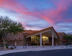 DSC08417 (Skyler-Schmidt) Tags: architecture building az arizona sky sunset blue hour clouds outdoor church cathedral religion christian