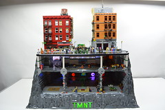 Teenage Mutant Ninja Turtles Sewer Lair-Subway-NYC (ben_pitchford) Tags: teenagemutantninjaturtles tmnt newyorkcity lego legomoc legobuild afol downtown legocity architecturephotography legolights toyphotography toydesign legoflickr legogroup hobbylobby bricknetwork ninjaturtles miragecomics