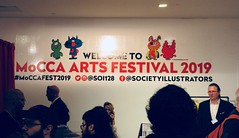 MoCCA Fest NYC 2019 Cartoon Convention 5516 (Brechtbug) Tags: mocca fest 2019 nyc convention museum comics cartoon art metropolitan west exhibition space 46th street between 11th 12th aves avenues new york city exposition exterior facade building entrance front floor panorama shot con conventions society illustrators 04072019 newspaper funnies saturday sunday comix illustration comic book artists comicbook sol event april wall poster