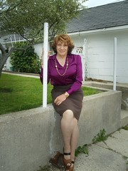 Your Seventh Grade English Teacher, Perhaps? (Laurette Victoria) Tags: secretary skirt blouse auburn woman laurette necklace