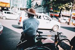 Streets of Myanmar (desomnis) Tags: street streetphotography streetshot streetlife streetcandid traveling travel travelphotography myanmar asia southeastasia rickshaw pedicab driver person desomnis sigma35mm sigma35mmf14dghsmart sigma35mmf14 35mm sigma 5d canon5dmarkiv canon5d yangon rangun