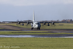 16-4598 United States Navy Lockheed CC-130 Hercules Prestwick airport EGPK 09.03-19 (rjonsen) Tags: plane airplane aircraft aviation airliner taxying turboprop motion blur
