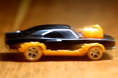 Ghost Rider Charger (-SOLO--) Tags: 12365 2019 charger dodge ghostrider hotwheels macro mattel motion flickrfridays flames macromondays hobby cmwd orange