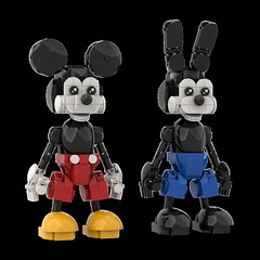 LEGO Mickey Mouse + Oswald (Alex Kelley) Tags: lego moc disney character toy design action figure custom