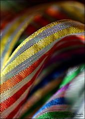 Macro Monday.... Cloth....  HMM (angelakanner) Tags: canon70d macro ribbon colorful macromondaycloth