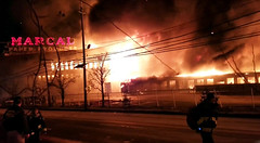 One of America's largest industrial fires... and YOU are there! Street view of the massive fire at the 87 year old Marcal Paper plant in Elmwood Park, New Jersey. At this point, explosions were taking place inside the building. Jan 2019 (wavz13) Tags: vintageindustry oldindustry vintageindustrial oldindustrial vintagefactory oldfactory vintagefactories oldfactories industry industrial industrialruins factoryruins industrialwasteland industrialnewjersey oldbuildings vintagebuildings 19thcenturybuildings oldconstruction vintageconstruction brickfactory brickfactories newjerseyhistory vintagenewjersey oldnewjersey wastelandindustrial wasteland urbanruins postindustrial industrialdisasters industrialfires disaster catastrophe devastation ruins oldneonsigns vintageneonsigns neonsigns industrialaccidents postindustrialnewjersey postindustrialjersey smokingruins industrialdevastation papermills factoryfires disasters paperplants paper manufacturing papermanufacturing flames explosions conflagration explosion surreal frightening fright scary