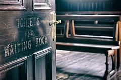 06 Waiting (manxmaid2000) Tags: waiting room door handle station bench victorian old steam railway preserved sign empty heritage dusty porterin isleofman iom manx fuji interior building nostalgia victoriana wooden floor