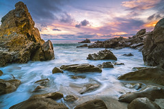 Little Corona Beach (meeyak) Tags: coronadelmar newportbeach california usa longexposure colors sunset seascape landscape sky clouds nature water ocean reflection mikemarshall sony a7r2 zeiss batis 18mm travel vacation outdoors adventure