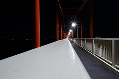 bridge 2 (heroyama) Tags: bridge lights night white black abstract red architecture road