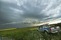 July 13, 2018 - E of Willowbrook SK (ryan.crouse) Tags: yorkton storm spotting chasing thunder lightning thunderstorm nature weather cloud rain hail canwarn sask saskatchewan canada western extreme severe clouds prairies skywatcher landscape explore supercell thunderstorms tornado warned funnel winds shelfcloud nationalgeographic ryancrouse stormchaser stormspotting skstorm therebeastormabrewin ngc