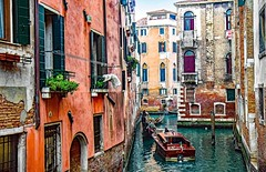 be patient (werner boehm *) Tags: wernerboehm venice italy gondola canal architecture buildings