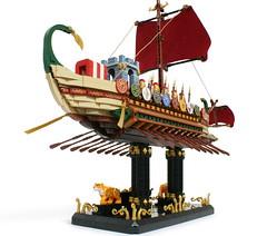 "LEGO "" ROMAN WARSHIP "" (gkdldis1201) Tags: lego moc diorama minifigure minifigures minifig minifigs mini figure creation custom romanwarship romanbattleship rome warship battleship ship war military soldier warrior slave"