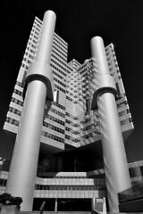 Munich - HVB Tower (cnmark) Tags: germany deutschland bavaria bayern münchen munich bogenhausen richardstraussstrase denningerstrase mittlererring hochhaus skyscraper wolkenkratzer gratteciel grattacielo rascacielo arranhacéu building gebäude architecture architektur bw sw black white schwarzweiss ©allrightsreserved