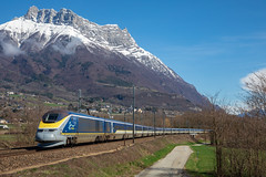 Eurostar 9094 sous l'Arclusaz (Maxime Espinoza) Tags: arclusaz eurostar e300 tmst 3220 9094 bourg saint maurice londres train savoie france st pierre dalbigny