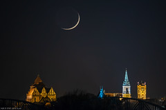c (Piotr Potepa) Tags: moon crescent torun toruń night nightscape nightscapes poland