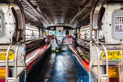 Welcome on board! (Phg Voyager) Tags: car truck jeepney leica mp summilux 24mm phgvoyager manila makati philippines driver bus public transport empty color outdoor asia waiting benches red old boy photography cityscape urban nosmoking