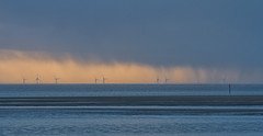 Rain At Sea (mliebenberg) Tags: stormy storms sunset clouds windturbines lythamstannes lancashire fyldecoast markliebenbergphotography
