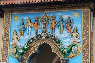 Entrance decoration on a small Temple - Kandy Sri Lanka