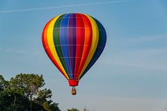 Rainbow Balloon (subrec) Tags: lakeland florida hot air balloons sunnfun sun n fun international flyin expo colorfulskies colorfulsky colorful color tampabay tampabayarea tampa orlando airshow pentaxk50 pentax pentaxart bluesky
