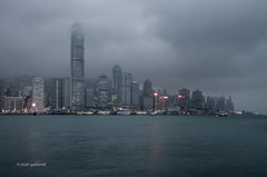 Gloomy HK (pietkagab) Tags: hongkong victoriaharbour water evening night clouds cloudy gloomy dark city cityscape architecture modern skyline skyscraper skyscrapers dusk asian asia pietkagab photography pentax piotrgaborek pentaxk5ii travel trip tourism sightseeing sky sea southeast