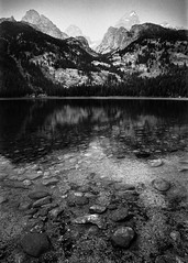 Smokey Haze (chrislon28) Tags: forest mountain grandteton tetons nationalpark blackandwhite film canonfilm ftb fd 35mm landscape wyoming kodak plusx iso125