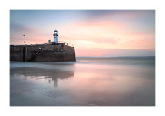 I L L U S T R I O U S - L I G H T (Andrew Hocking Photography) Tags: smeaton lighthouse pier stives cornwall england uk gb landscape seascape beach seaside coast sunrise pink blue april sky sea ocean reflection wetsand water longexposure leefilters canon pastel colour