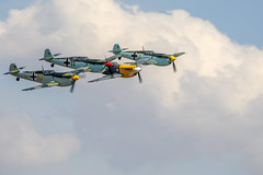 4 Buchons Rolls-Royce Merlin engined Messerschmitt Bf109's @ Flying Legends Airshow 2018 (WP_RAW) Tags: airshow