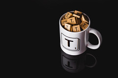 2/365 - Cup of T (Forty-9) Tags: canon eos60d eflens ef2470mmf28liiusm lightroom tomoskay forty9 yongnuo yongnuospeedliteyn560iv softbox photr flash studio strobist strobism project365 365 2019 3652019 project3652019 day2 2365 january 2ndjanuary2019 02012019 photoaday wednesday scrabble playonwords cupoft t