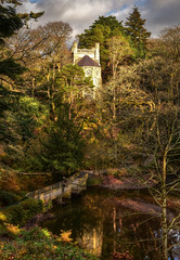 Hidden Tower (cassidymike21) Tags: woodland park lake bridge trees tower nikon water stream nationaltrust