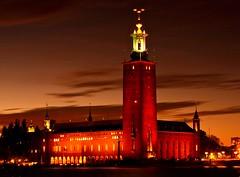 Stockholm City Hall (OlgaL2018) Tags: stockholm sweden studshuset night city sunset outside