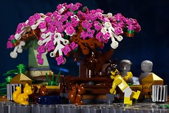 Terror in the park (Frost Bricks) Tags: lego moc tree park squirrel attack