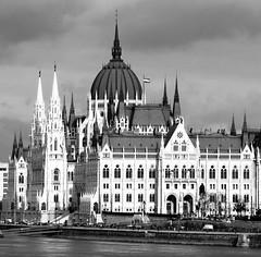 Parliament Building, Budapest (Normann) Tags: hungary budapest parliament blackandwhite