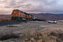 California Dreamin' (sully7302) Tags: bnsf dpu distributed power unit es44ac sunset mojave desert winter ford mustang train ethanol trains transport transportation scenic