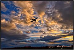 Evening Departure (Bob Garrard) Tags: boeing 737 sunset anc panc