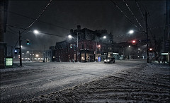 king_sherbourne_snow_night_wide_jeep_01_8779842720_o (wvs) Tags: cold night snow toronto ontario canada can