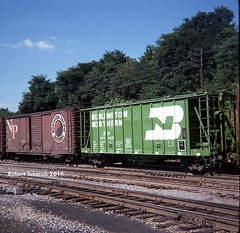 Then and Now (NSHorseheadSD70) Tags: robert tokarcik freight cars covered hoppers trains railroads railways connellsville pa pennsylvania bn burlington northern np pacific