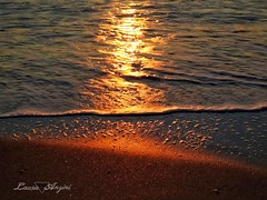 Warmth (Laura Anzini) Tags: sea sunset fregene reflection orange sun water createtoexplore womenphotographer