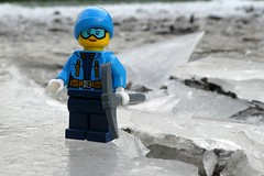 Winter Walk (captain_joe) Tags: cindy eis ice pfütze puddle toy spielzeug 365toyproject lego minifigure minifig