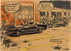 Mustang (sylvain.cnudde) Tags: ford mustang fordmustang usa washingtondc car americancar sketch urbansketch