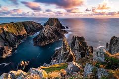 Malin Head (Forester__) Tags: landscape malinhead ireland seascape sunset evening goldenhour longexposure donegal rockformation cliffs ocean oceanscape cloudporn rugged nature settingsun