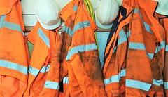 Hi-Viz Safety Clothing - Tyne Yard (Gilli8888) Tags: cameraphone samsung s7 railwayyard lamesley railway tyneandwear tyneyard northeast orange clothing hiviz safetyclothing coats hardhats