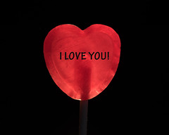 Happy Valentines! (Helena Johansson 71) Tags: valentinesday heart candy sweets red blackbackground macro backlit nikond5500 d5500 nikon
