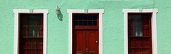 The colours of Bo-Kaap (__ PeterCH51 __) Tags: bokaap malayquarter capetown westerncape southafrica za colour color colourful colorful hose housewall wall green lightgreen iphone peterch51