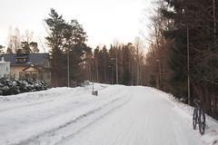 2019 Bike 180: Day 48, March 11 (olmofin) Tags: 2019bike180 finland bicycle polkupyörä snow lumi pyörätie path shared street katu