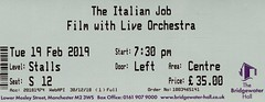 The Italian Job with live orchestra @ Bridgewater Hall, Manchester 19/2/2019 (stillunusual) Tags: theitalianjob bridgewaterhall manchester film movie michaelcaine concert orchestra live livemusic concertticket ticket 2019